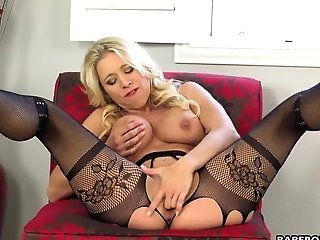 Solo Blonde Matures, Katie Morgan Is Anxiously Mas