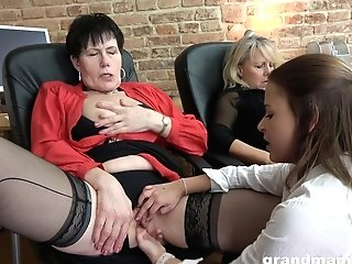 Two Bossy Grannies Are Fucking Pretty Youthful Assistant Victoria