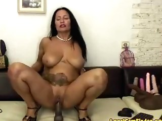 Hot, Horny 50 Year Old Latina Cougar Rails Fuck Stick!