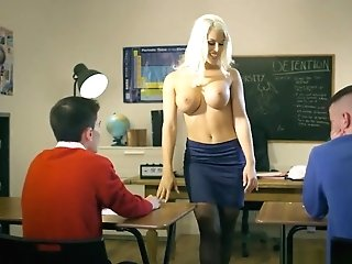 Dirty Instructor Blanche Bradburry Gets Fucked By Two Studs - Brazzers