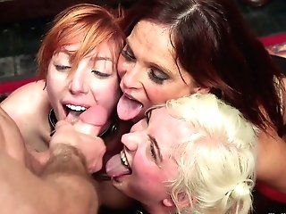 Big-titted Cougar Syren De Mer And Others Serve A Few Brutal Studs In The Bondage & Discipline Club