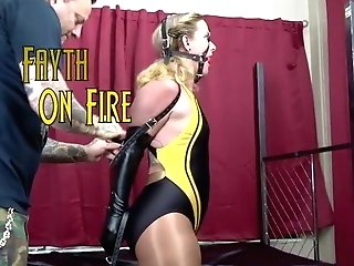 Fayth On Fire Leather Tying