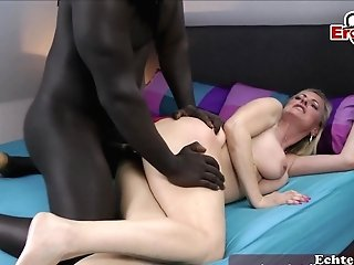 German Big Black Cock Fucks Blonde Mummy Homemade