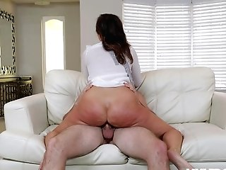 Youthfull Lad Fucks The Big Culo Wifey When She's Light-haired Folded