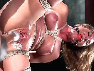 Ariel X & The Pope In Ariel X - Extreme Tying, Brutal Torment, And Squirting Orgasms - Frogtied