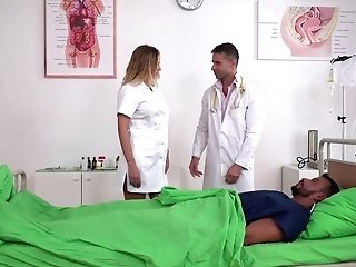 Sexy Nurse Candy Alexa Gets Dped By Horny Patient And Perverted Doc