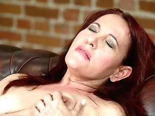 Gorgeous Crimson Mary Gets Her Hairy Vagina Drilled With A Fat Dick