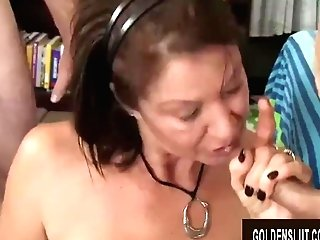 Fellows Old And Youthfull Take Turns Drilling Matures Tramp Vanessa Videl