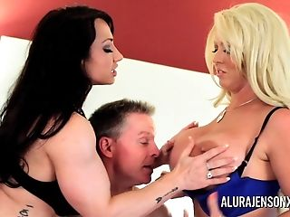 Alura Jenson Mummy Threesome Fuck Arrest With Brandie Mae