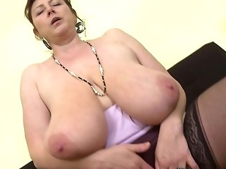 Gorgeous Mom With Supah Tits And Greedy Cunt
