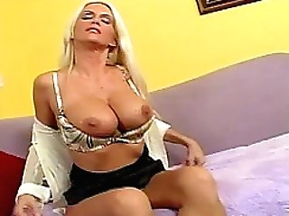 Blonde Cougar Rhyse Richards Whips Out Her Big Tatas And Gets Screwed
