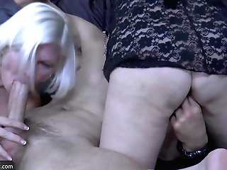 Two Horny Matures Grannies Fucking Xxx With Handy Youngster
