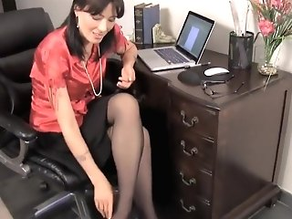 Horny Homemade Footfetish, Stockings Adult Clip