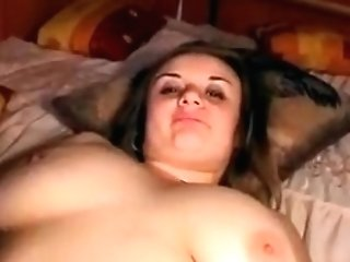 Chubby Mega-bitch Spreads Her Raw Muff On The