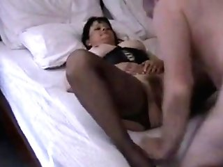 Gorgeous Dark-haired Wifey With Natural Tits Getting Her Honeypot Ate