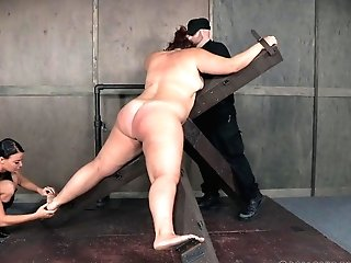 Chubby Matures Bbw Mimosa Strapped In Tying And Made To Sob