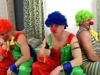 Matures Blonde Gets Group Banged By Clowns