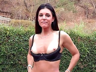 Tall Black-haired India Summer Is A Charming Mummy With Flawless
