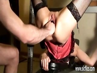 Savagely Knuckle Fucked Unexperienced Wifey
