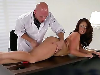 Dark Haired Samm Rosee Gets Her Mouth Spread By Johnny Sinss Sturdy Ram Rod