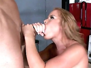 Blonde Nikki Delano With Massive Knockers Makes Johnny Sins Glad By Eating His Erect Meat Stick