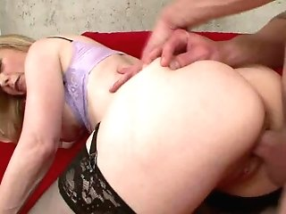 Matures Lady Nina Hartley Is Nosey About A Hunk's Fat Fuckpole