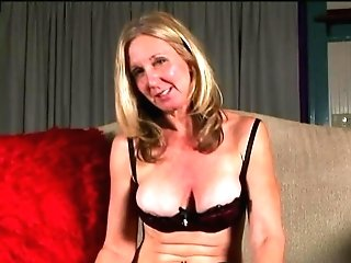 Saucy Old Spunker In Stockings Loves To Fuck Her Tastey Muff