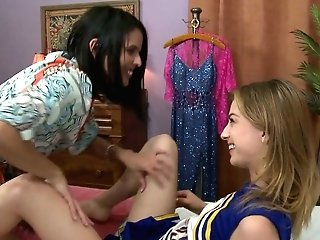 Playful Cheerleader Kristen Scott Is Fucked By Wise Experienced Lesbo