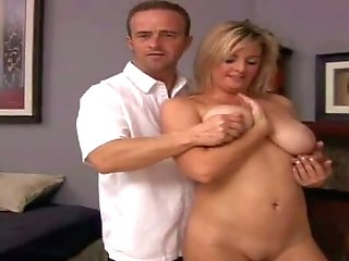Cheating Fledgling Blonde Mummy With Big Natural Knockers Gets Naked