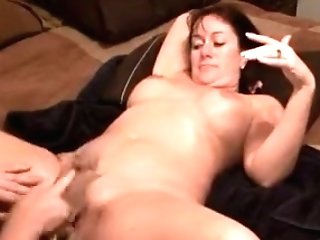 Whorish Big Titted Cougar Gets Her Cunt Clean-shaved Before She Deepthroats A Manstick