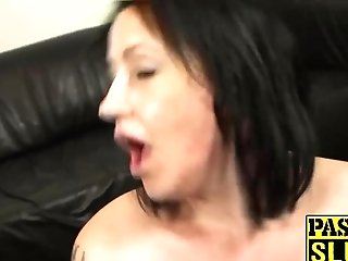 Tattooed Bbw Fat Backside Cougar Bitch Gets Her Meat Fuck Holes Jammed