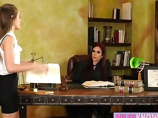 Judge Instructs Her Assistant To Slurp Her Cunt In The Office