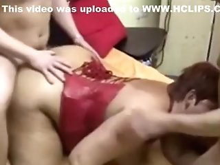 Horny Homemade Record With Threesome, Rear End Style Scenes