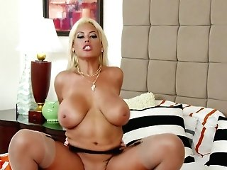 Suntanned Bombshell Bridgette B Gives A Boob Fucking And Oral Pleasure To Her Orgy Playmate