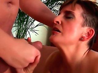 Soccer Mom In Black Stockings And Underwear Gets Drilled Hard