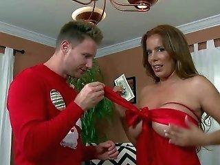 She's A Smoking Hot Sexy Mummy Clad In Crimson. She