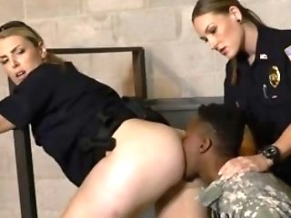 Bitchy Cougars With Big Melons Love To Have Fun With Black Weenies In Jail.