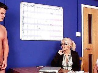 Cfnm In Sexy Scenes Of Office Porno