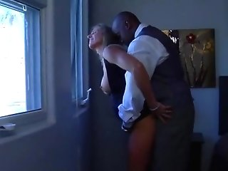Blonde Mummy Getting Big Black Cock