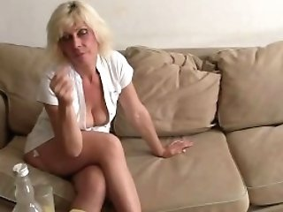 Gonzo 3some Orgy With Matures Blonde