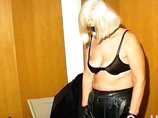 Omahotel Horny Granny Nun Attempts Bondage & Discipline Fuck-a-thon With Fucktoy