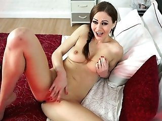 Delicious Ultra-cutie Tina Kay Is Draining Her Tits And Playing With Her Honeypot