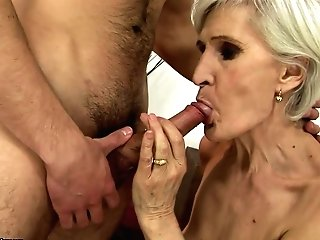 Matures Shows Her Whorey Side To Hot Dude By Taking His Hard Fuck Stick In Her Mouth