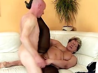 Hairy 78 Years Old Bbw Granny In Sexy Stoxkings Likes A Rough Fucking Lesson