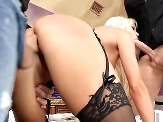 Blonde Wifey Gets Packed Up With Meat