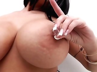 Dark Haired With Big, Bubble Breasts Is Fucking Her Spouse's Best Friend, After He Ate Her Twat