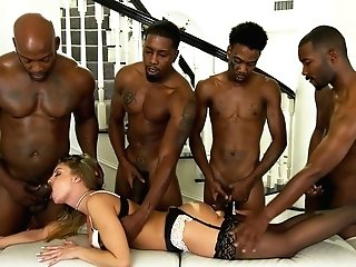 Whore Wifey Britney Amber Is Fucked By A Few Black Dudes