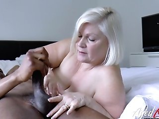 Lacey Starr Is Loving Big Black Dick Inwards Her Matures Beaver