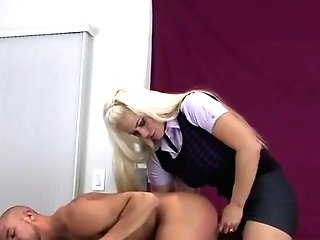 Teenies Pound Dudes Arse Slot With Giant Strap-ons And Squirt J
