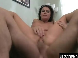 Big Tits Cougar Eva Karera Gets A Tool In Her Cunt And A Penis In Her Bum
